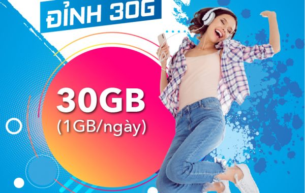 Đăng ký gói cước D30G VinaPhone nhận 30GB