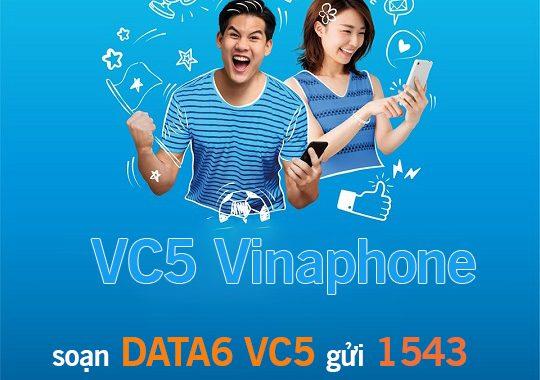 Cách đăng ký gói cước VC5 Vinaphone có 1GB giá chỉ 5,000đ