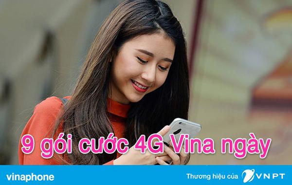 9 gói cước 4G Vina 1 ngày giá chỉ từ 1,000đ